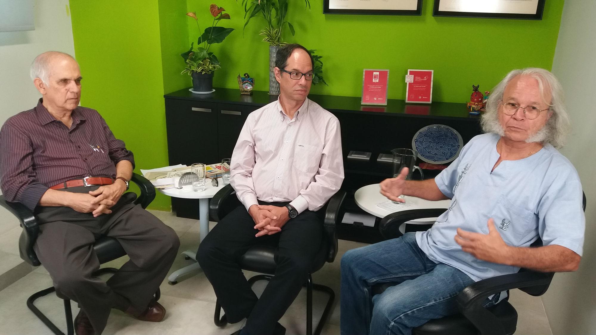 Jaime Galvão, Ismar Kaufman e Merval Jurema, entrevistados do Memória do Futuro, fala sobre educação técnica do setor de TI